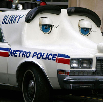Blinky the talking police car
